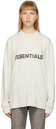 Essentials Grey Heather Logo Long Sleeve T-Shirt