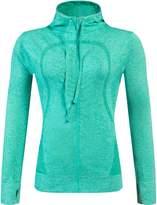 Royal Journey Women Running Yoga Slim Workout Sweatshirt Full Zip Jacket Coat