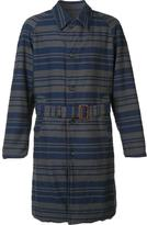 Engineered Garments striped trench coat