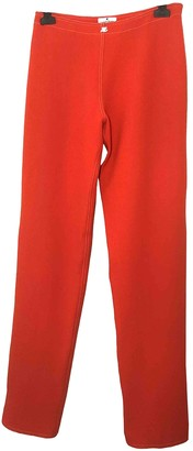Courreges Red Wool Trousers for Women Vintage