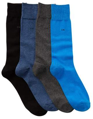 Calvin Klein Flat Knit Crew Socks - Pack of 4