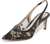 Monique Lhuillier Poppy Lace Kitty Heels