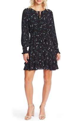 Cece By Cynthia Steffe Tossed Floral Long Sleeve Dress