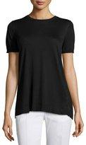 Agnona Pleated-Back Knit Top