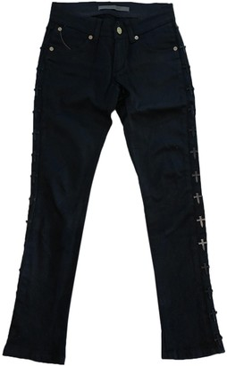 Superfine Black Cotton Jeans for Women