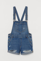 H&M H&M+ Denim Overall Shorts - Blue