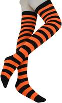 Heymei Women's Girl's Soft Cotton Stripes Stockings Over Knee High Socks WGS05