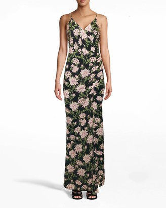 Nicole Miller Spring Dream Drape Gown With Silt