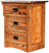 Forest Designs Arts & Crafts Three Drawer Nightstand: