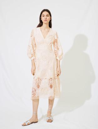 Maje Low-cut guipure dress