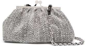 Ermanno Scervino Metallic Plaid Clutch Bag