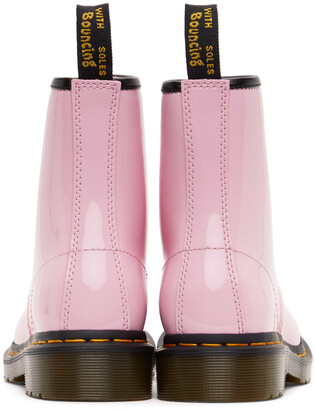 Dr. Martens Pink Patent 1460 Lace-Up Boots