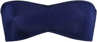 Eberjey Ruched Lace-up Bandeau Bikini Top