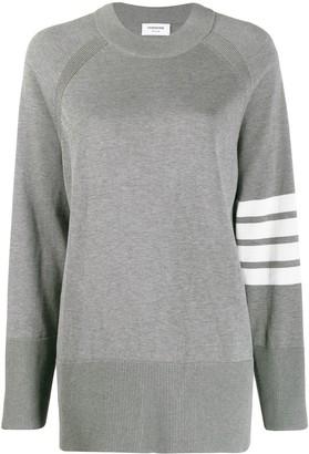 Thom Browne 4-Bar stripe oversize jumper