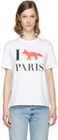 MAISON KITSUNÉ White 'I Fox Paris' T-Shirt