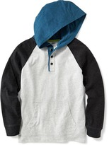 Old Navy Color-Block Henley Hoodie for Boys