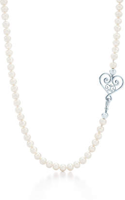 Tiffany & Co. Paloma's Venezia Goldoni heart pearl necklace in sterling silver