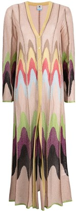 M Missoni Panelled Long Cardigan