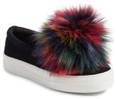 Steve Madden Women's Great Faux Fur Pom Platform Sneaker