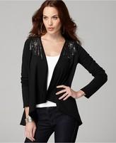DKNY Jeans Cardigan, Embellished Shoulder Cascade Front