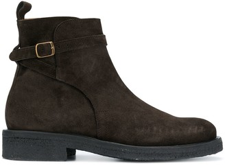 Ami Strap Boots With Crepe Sole