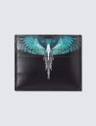 Marcelo Burlon County of Milan Turquoise Ghost Wings Card Holder