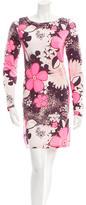 Diane von Furstenberg Floral Print Long Sleeve Dress