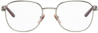 Gucci Silver Round Glasses