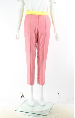 Racil Pink Wool Trousers for Women