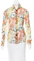 Dolce & Gabbana Sheer Floral Print Blouse