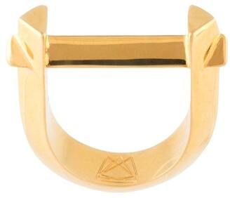 THIRD CROWN Arc gold-plated ring