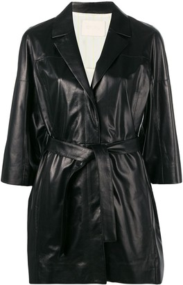 Drome cropped sleeve wrap jacket