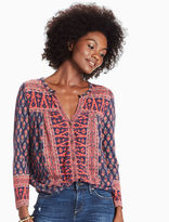 Lucky Brand Woodblock Printed Top