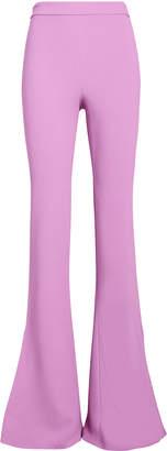 Cushnie High-Waist Cady Flared Trousers