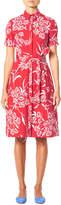 Carolina Herrera Short-Sleeve Button-Front Floral-Print Shirtdress