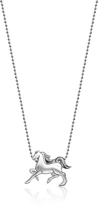 "Alex Woo Little Signs Animals"" Silver Horse Pendant Necklace"
