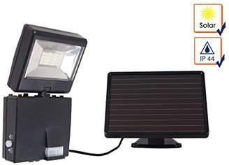 Camilla And Marc GAO Solar-Powered LED Spotlight with Motion Sensor, Plastic, black, 18.5 x 5.4 x 9.3 cm