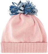 Federica Moretti 'Denim Pom Pom' beanie - women - Cotton - One Size