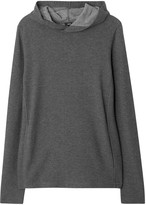 Vince Hooded Thermal-knit Cotton Sweatshirt