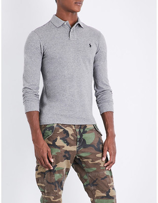 Polo Ralph Lauren Slim-fit cotton-mesh polo shirt