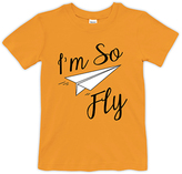 Urban Smalls Orange 'I'm So Fly' Crewneck Tee - Toddler & Boys