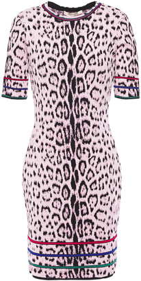 Roberto Cavalli Leopard-jacquard Mini Dress