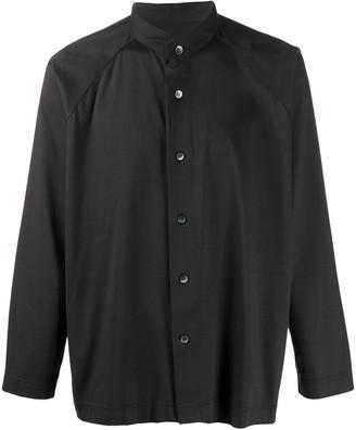 Homme Plissé Issey Miyake Collarless Shirt