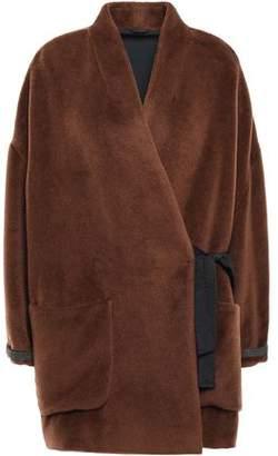 Brunello Cucinelli Brushed Alpaca Wrap Coat