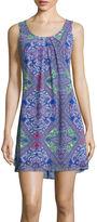 My Michelle Sleeveless Chiffon Print A-Line Dress- Juniors