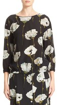 Lafayette 148 New York Women's Evie Floral Print Silk Blouse