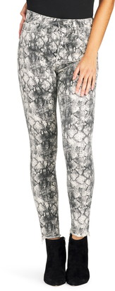 Sam Edelman The Stiletto High Waist Raw Ankle Skinny Jeans