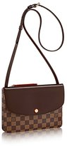 Louis Vuitton Authentic Ebene Canvas Twice Cross Body Handbag Article: N48259
