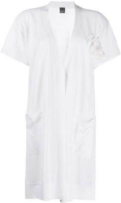Lorena Antoniazzi Short-Sleeved Open-Front Cardigan