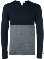 Comme des Garcons cut-out detail sweater - men - Wool - M